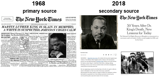 Martin Luther King headlines