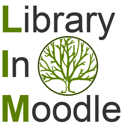 Library in Moodle Logo