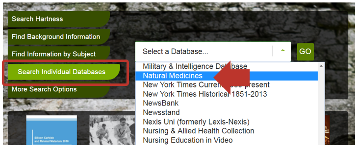 select individual specialty databases