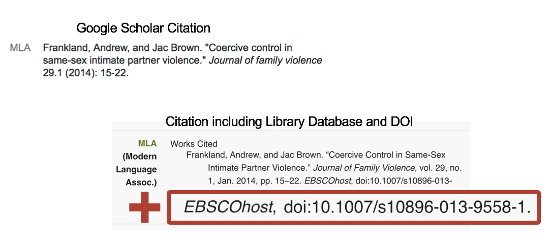 citation with database included