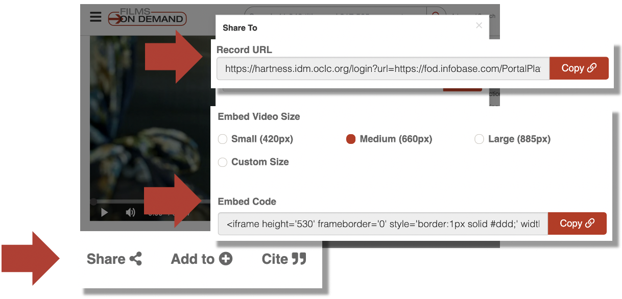 embed Films on Demand videos