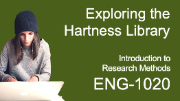 Exploring the Hartness Library: Introduction to Research Methods