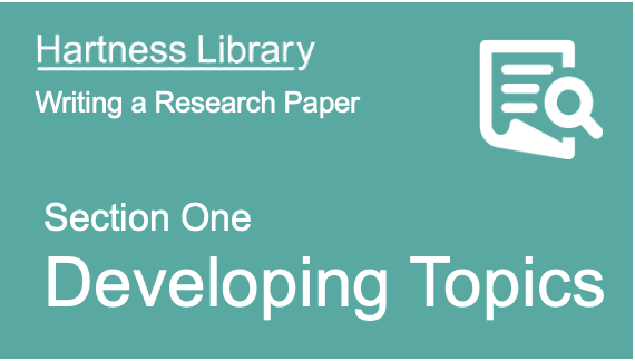 Hartness Library | Developing Paper Topics