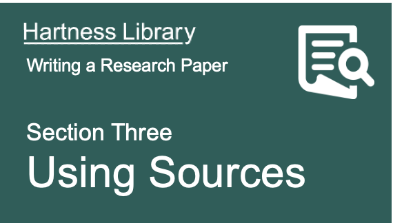 Hartness Library | Using & Citing Sources